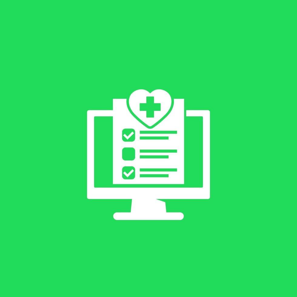 online medicinska test vektor ikon