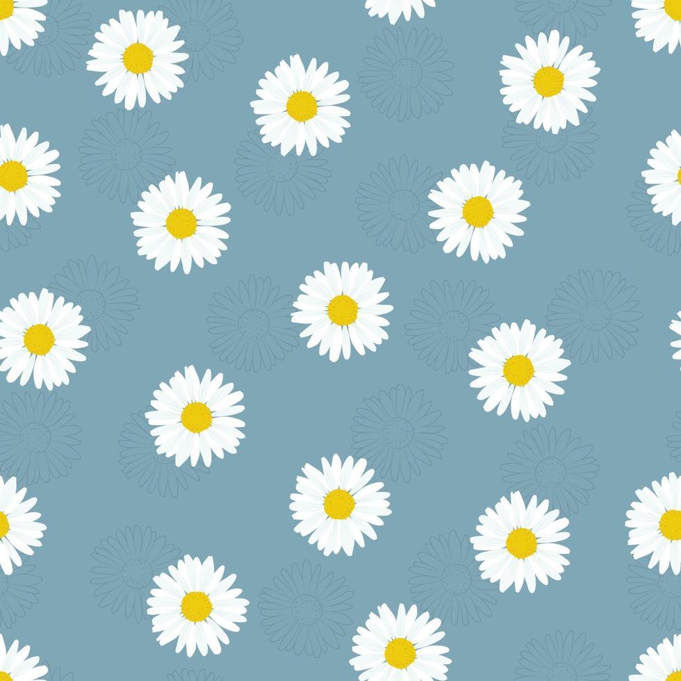 kamomill blomma sömlösa mönster. enkelt fjädermönster för tyg och omslagspapper. vektor