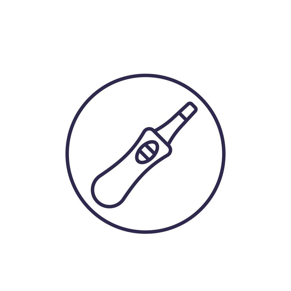 Schwangerschaftstestikone, Linienvektor vektor