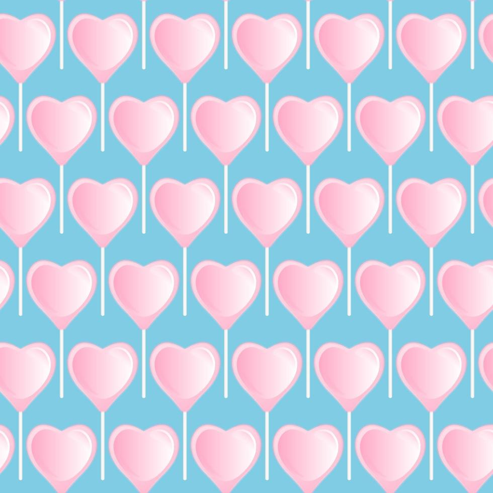 Lutscherherz rosa. nahtloses süßes Muster. vektor