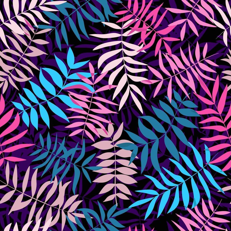 helle tropische Blätter. nahtloses Muster für Stoff, Geschenkpapier und Web. vektor