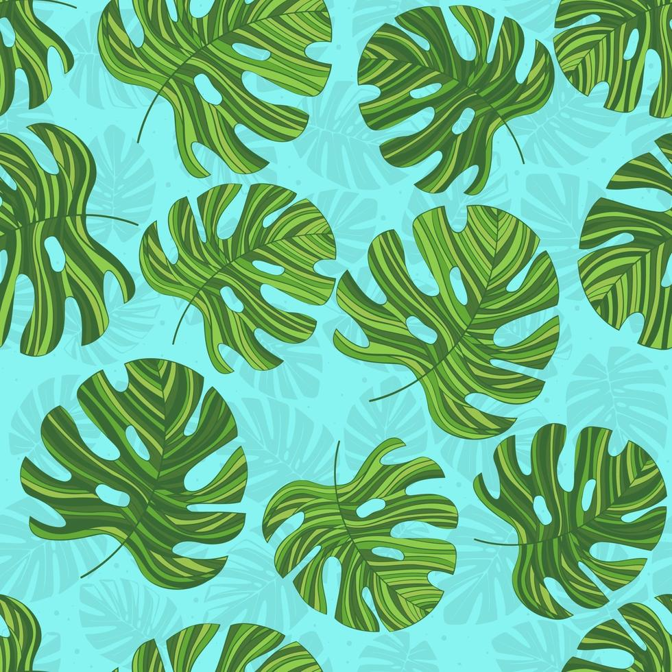 nahtloses Muster mit grün konturierten Monstern. heller Hintergrund. kreativer botanischer Druck. Entworfen für Stoffdesign, Textildruck, Verpackung, Bezug. vektor