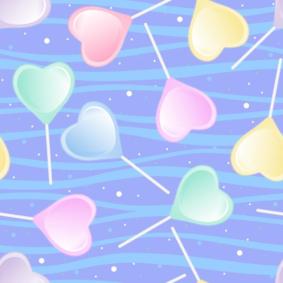 ljusa klubba hjärta. sömlösa söta mönster. vektor