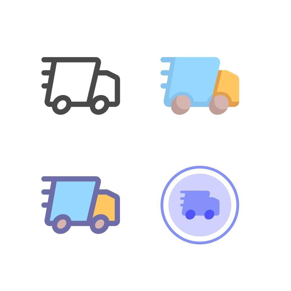 snabb leverans ikon pack isolerad på vit bakgrund. för din webbdesign, logotyp, app, ui. vektorgrafikillustration och redigerbar stroke. eps 10. vektor