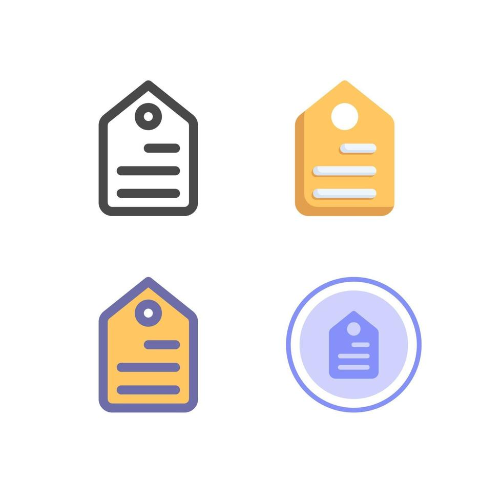 prislapp ikon pack isolerad på vit bakgrund. för din webbdesign, logotyp, app, ui. vektorgrafikillustration och redigerbar stroke. eps 10. vektor