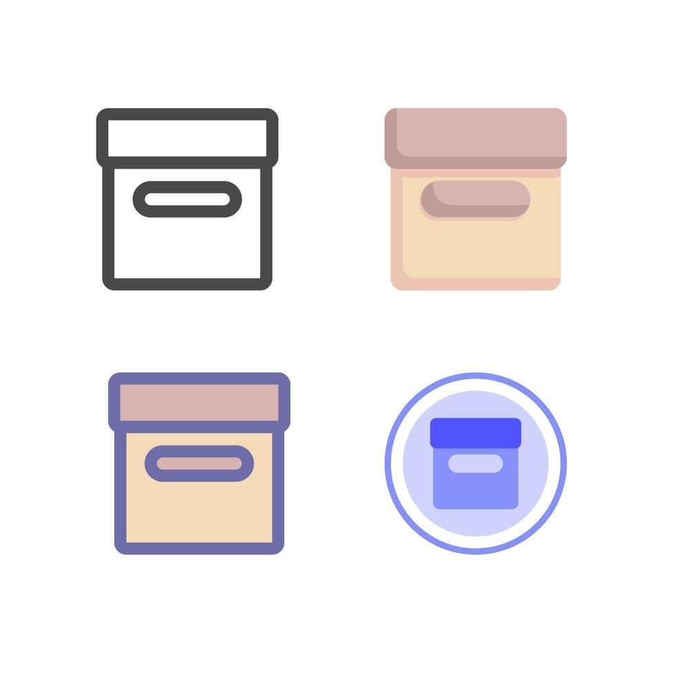 låda ikon pack isolerad på vit bakgrund. för din webbdesign, logotyp, app, ui. vektorgrafikillustration och redigerbar stroke. eps 10. vektor
