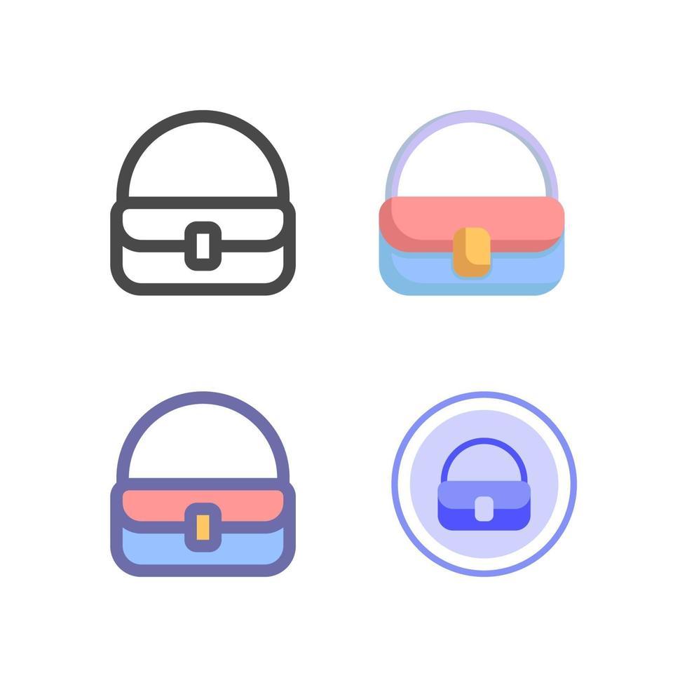 Handtaschenikonenpaket lokalisiert auf weißem Hintergrund. für Ihr Website-Design, Logo, App, UI. Vektorgrafiken Illustration und bearbeitbarer Strich. eps 10. vektor
