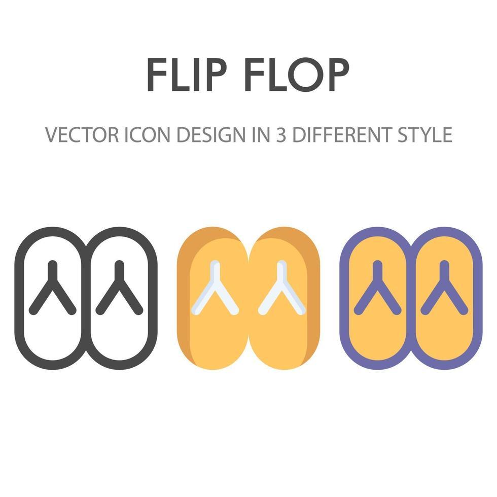 flip flops ikon pack isolerad på vit bakgrund. för din webbdesign, logotyp, app, ui. vektorgrafikillustration och redigerbar stroke. eps 10. vektor