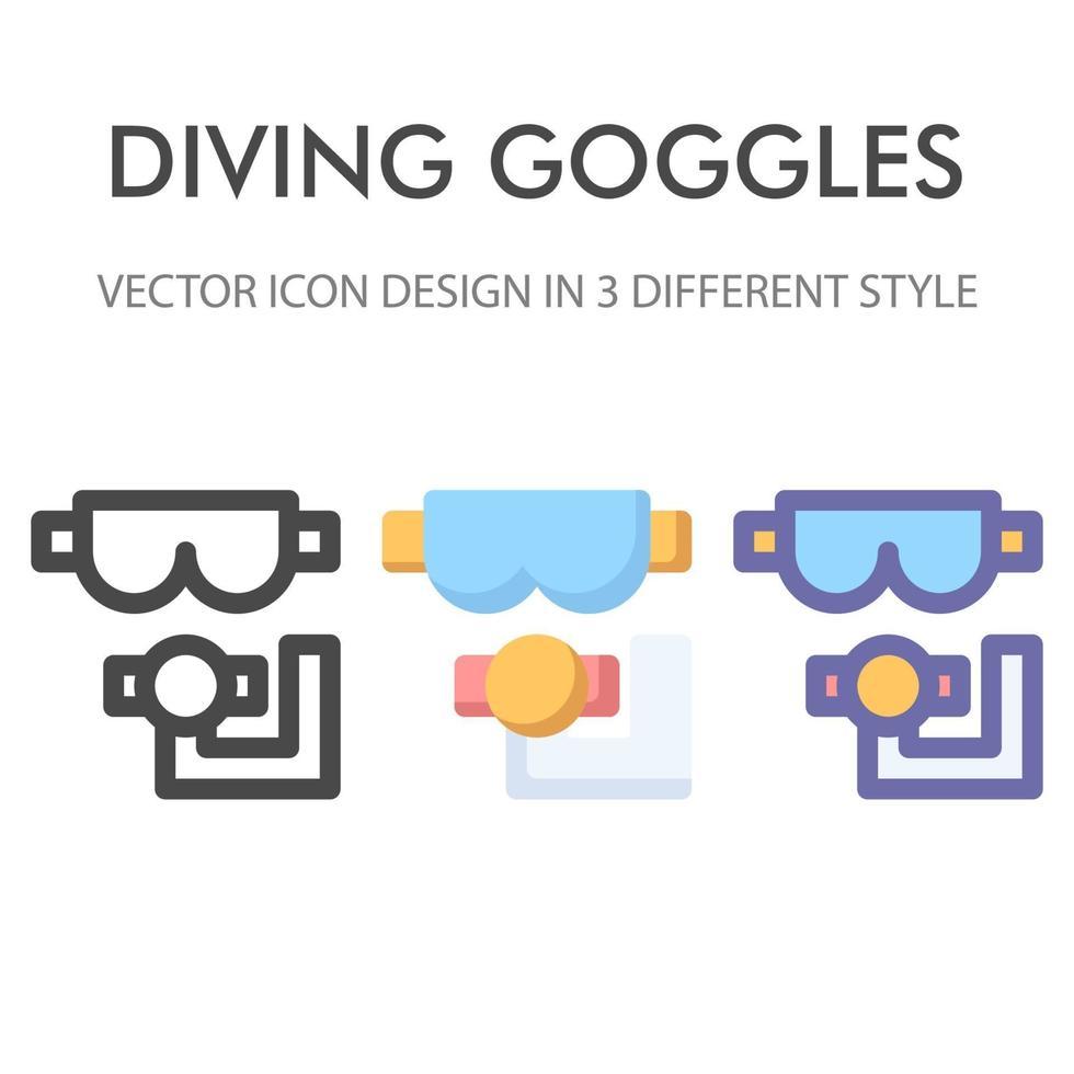 Schutzbrillen-Symbolpaket lokalisiert auf weißem Hintergrund. für Ihr Website-Design, Logo, App, UI. Vektorgrafiken Illustration und bearbeitbarer Strich. eps 10. vektor