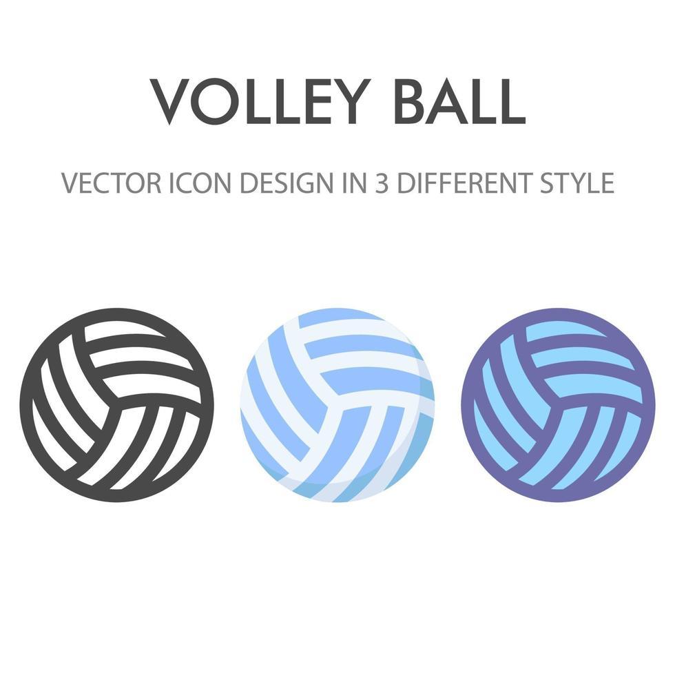 Volleyball-Ikonenpaket lokalisiert auf weißem Hintergrund. für Ihr Website-Design, Logo, App, UI. Vektorgrafiken Illustration und bearbeitbarer Strich. eps 10. vektor