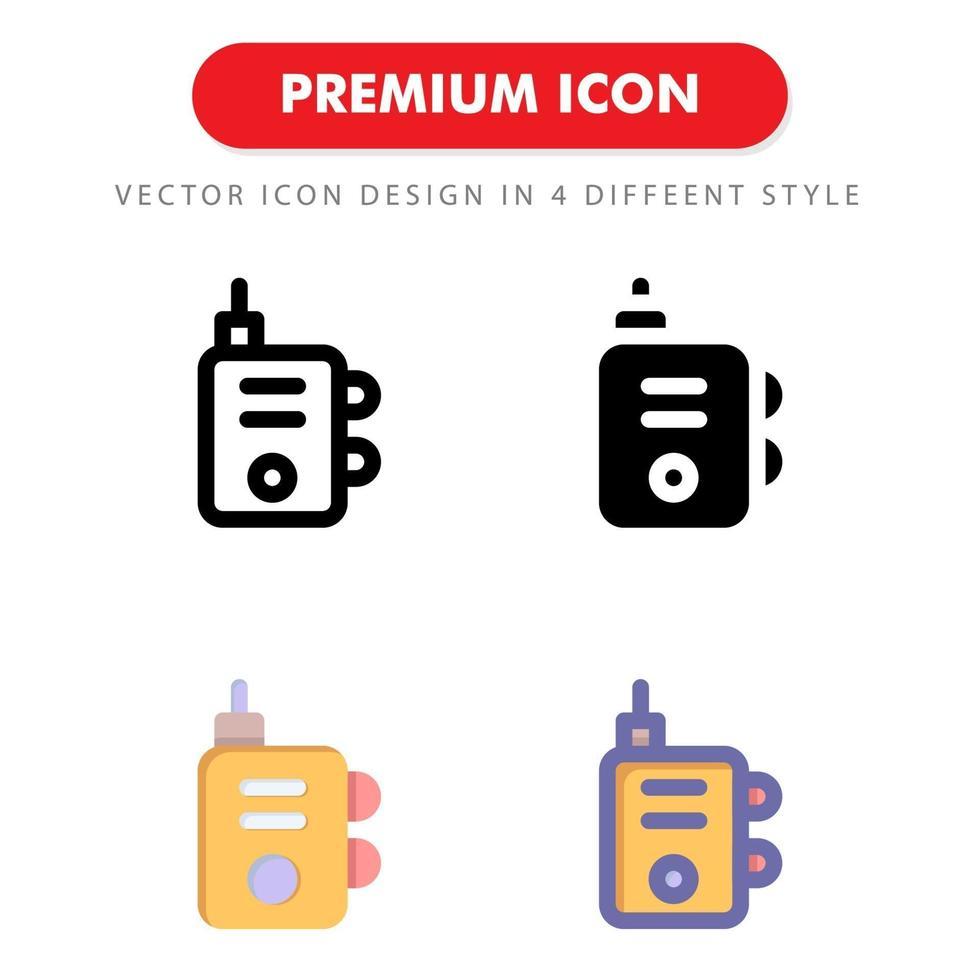 walkie talkie-ikonpaket isolerad på vit bakgrund. för din webbdesign, logotyp, app, ui. vektorgrafikillustration och redigerbar stroke. eps 10. vektor