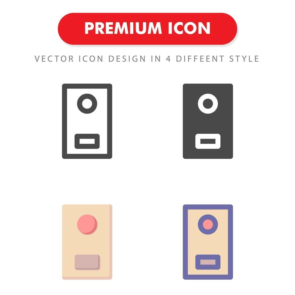 dörr ikon pack isolerad på vit bakgrund. för din webbdesign, logotyp, app, ui. vektorgrafikillustration och redigerbar stroke. eps 10. vektor
