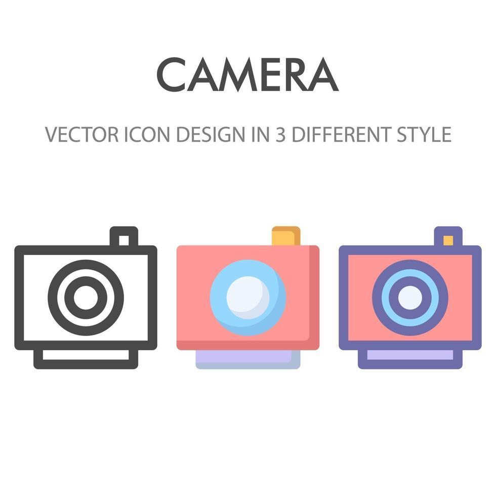 kamera ikon pack isolerad på vit bakgrund. för din webbdesign, logotyp, app, ui. vektorgrafikillustration och redigerbar stroke. eps 10. vektor