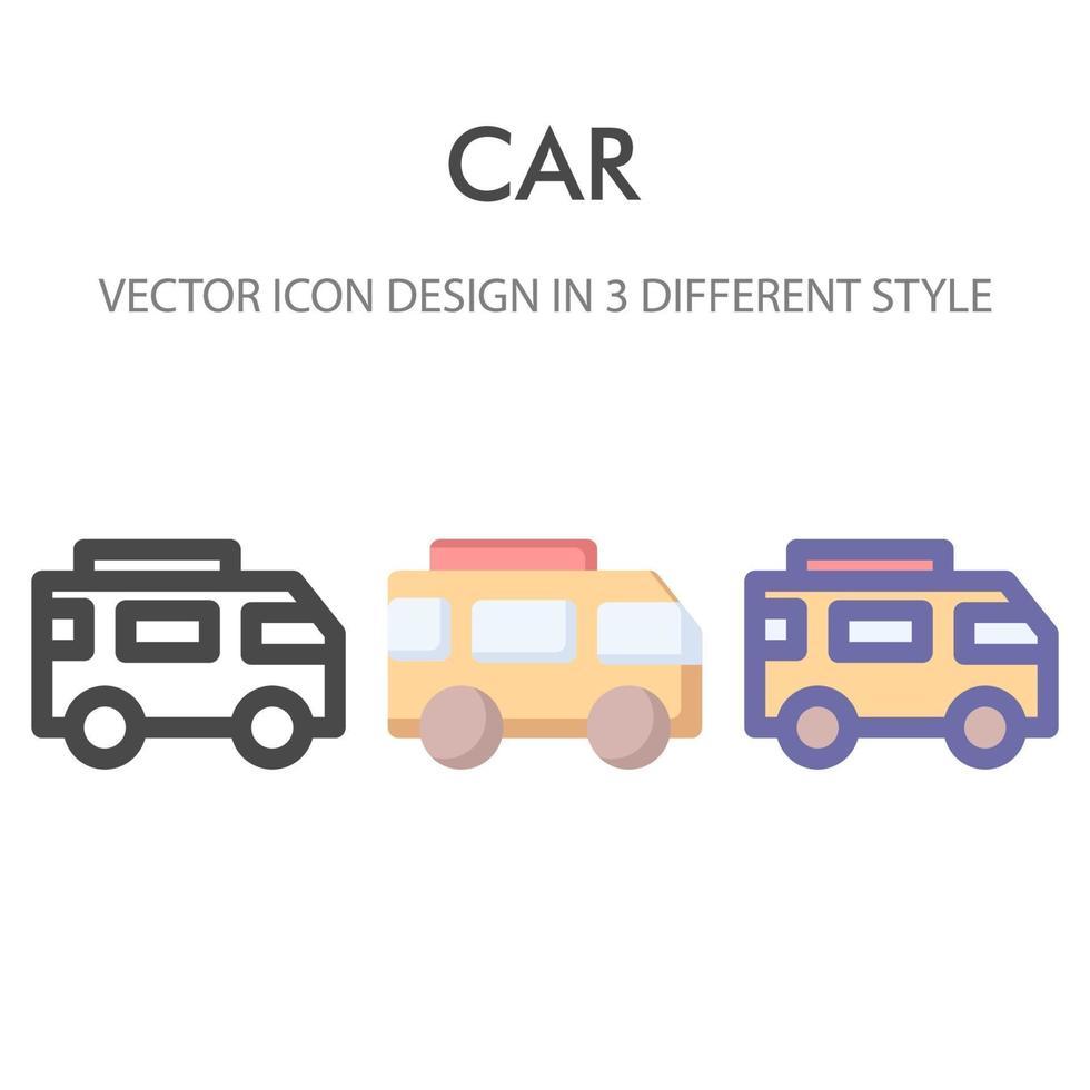 husbil ikon pack isolerad på vit bakgrund. för din webbdesign, logotyp, app, ui. vektorgrafikillustration och redigerbar stroke. eps 10. vektor