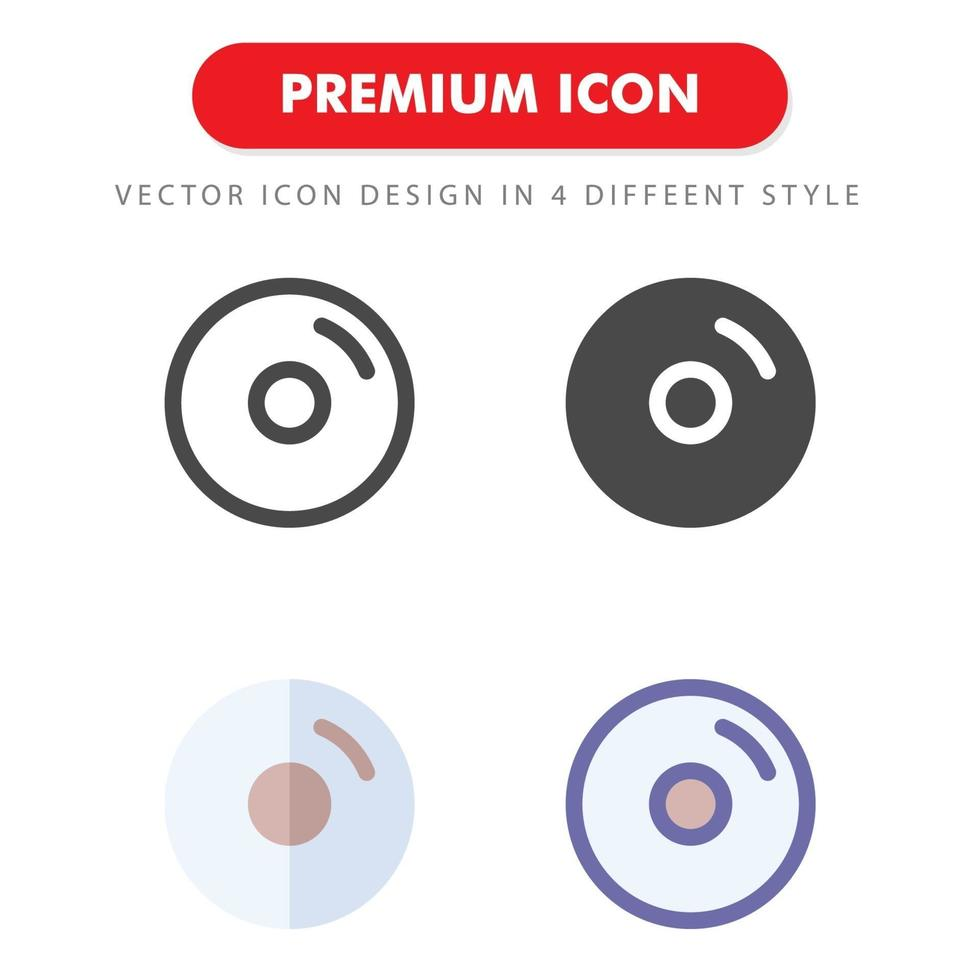 skiva ikon pack isolerad på vit bakgrund. för din webbdesign, logotyp, app, ui. vektorgrafikillustration och redigerbar stroke. eps 10. vektor