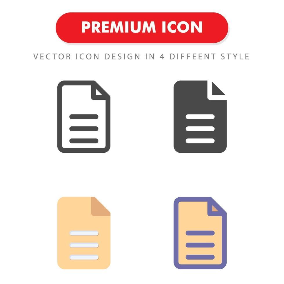 fil ikon pack isolerad på vit bakgrund. för din webbdesign, logotyp, app, ui. vektorgrafikillustration och redigerbar stroke. eps 10. vektor