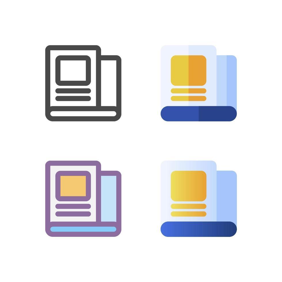 nyhetsbrev ikon pack isolerad på vit bakgrund. för din webbdesign, logotyp, app, ui. vektorgrafikillustration och redigerbar stroke. eps 10. vektor