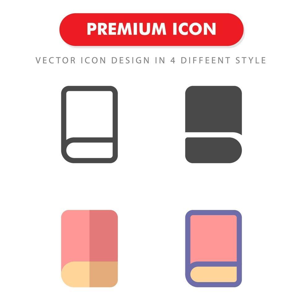 bok ikon pack isolerad på vit bakgrund. för din webbdesign, logotyp, app, ui. vektorgrafikillustration och redigerbar stroke. eps 10. vektor