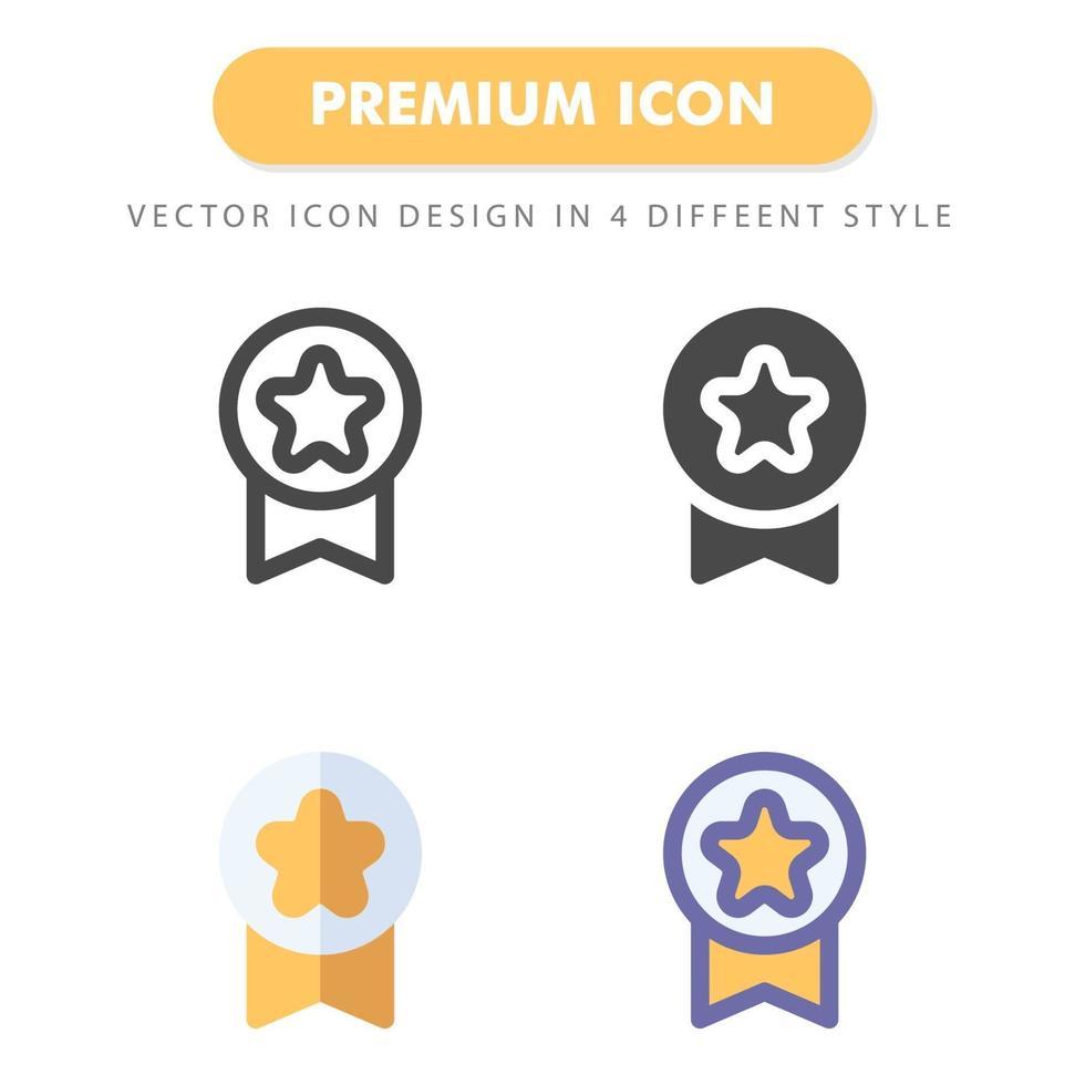 medalj ikon pack isolerad på vit bakgrund. för din webbdesign, logotyp, app, ui. vektorgrafikillustration och redigerbar stroke. eps 10. vektor