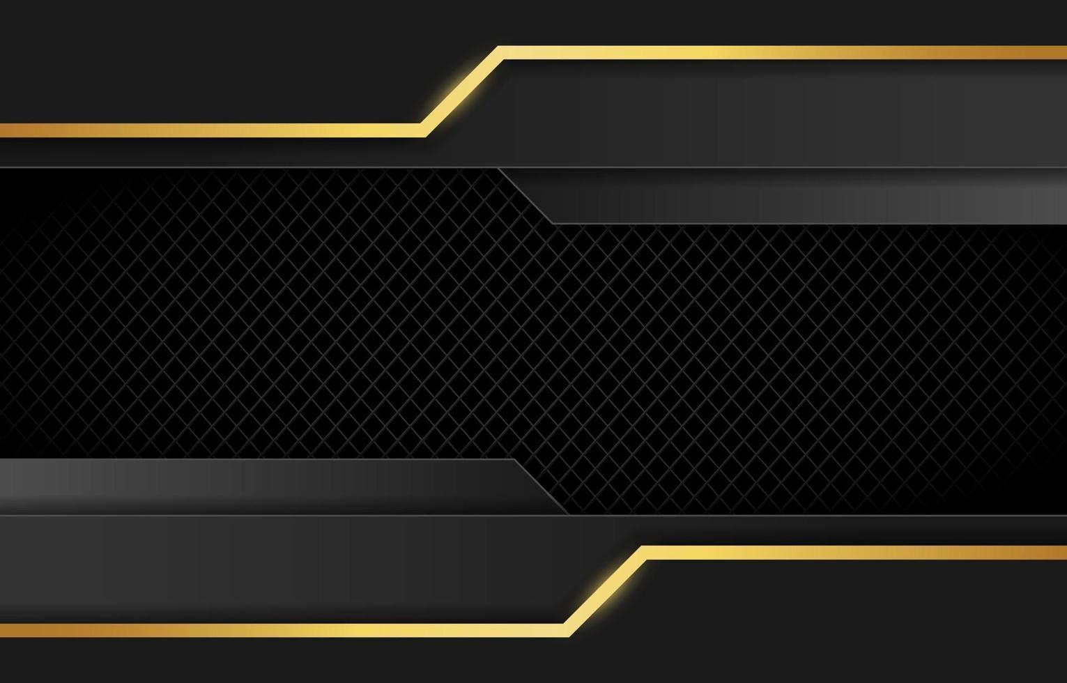 lyxig svart och guld bakgrund vektor