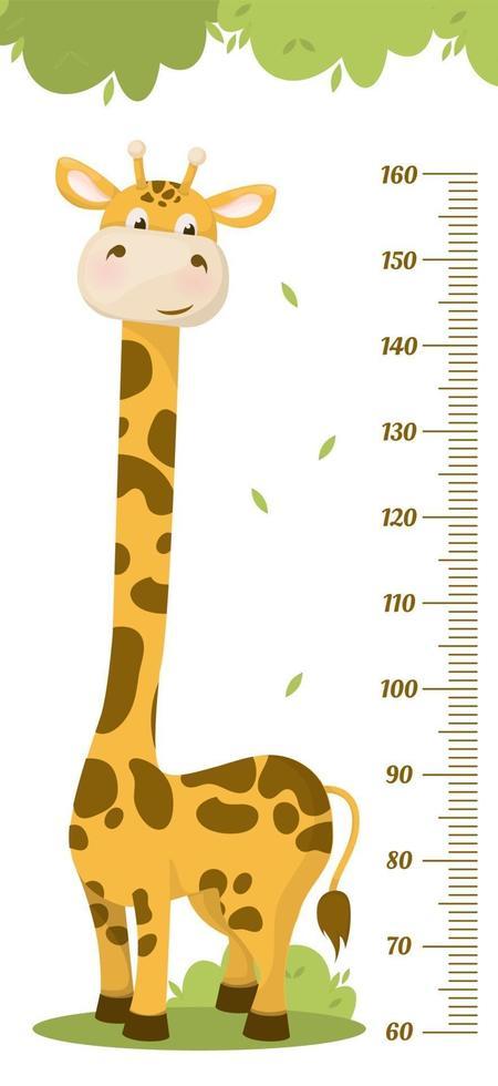 barnens höjdschema. barns höjdmätare för dagis. vektor