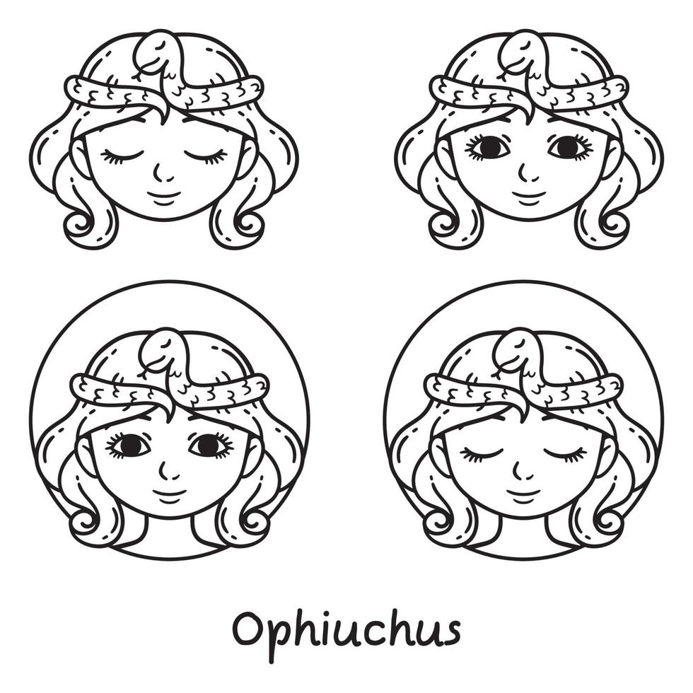 ophiuchus astrologi tecken. vektor