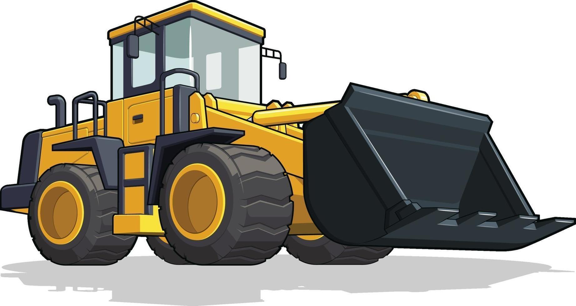 bulldozer konstruktion tung maskin industri tecknad illustration vektor