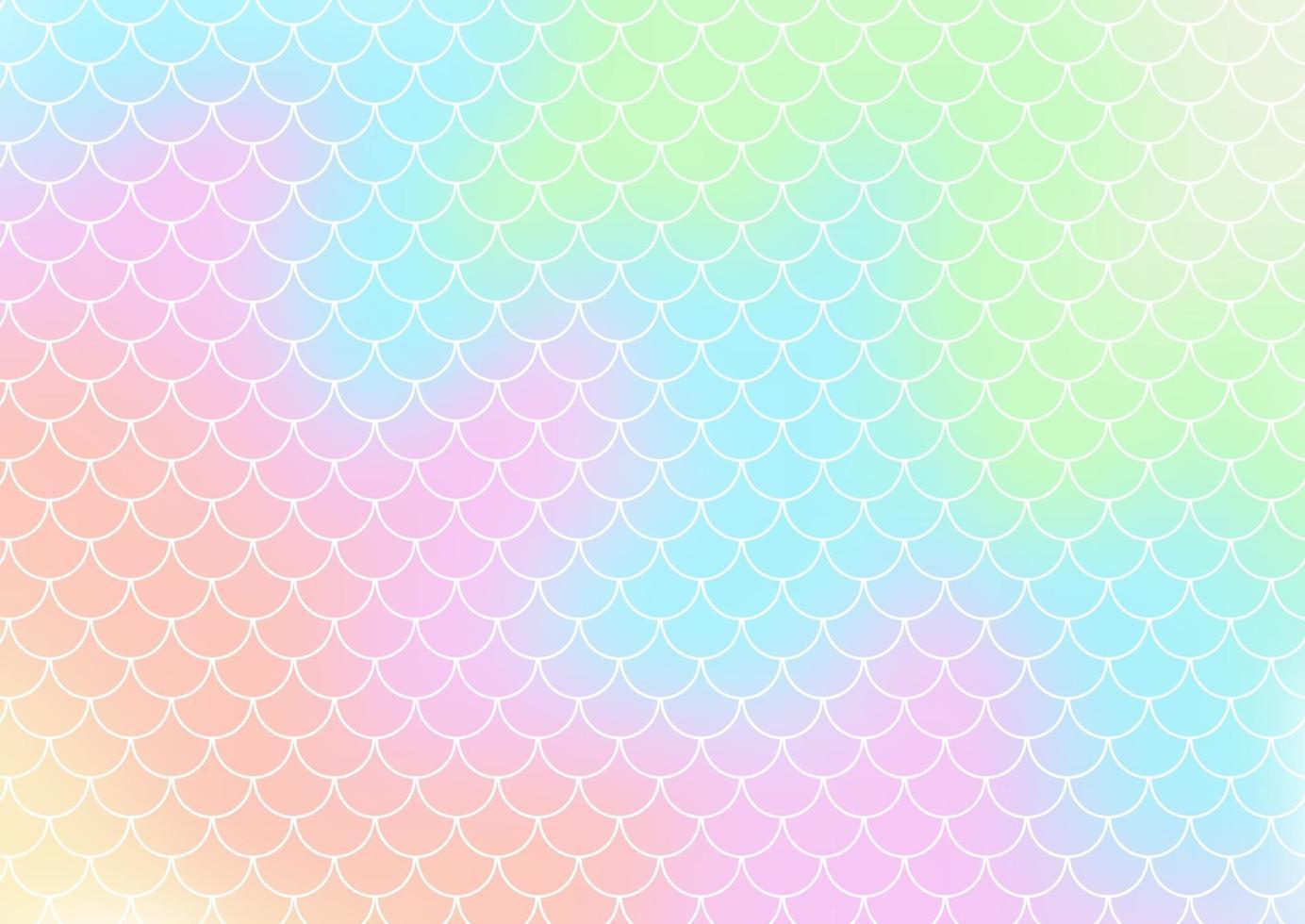 Hologrammart-Gradientenhintergrund mit Meerjungfrauenschuppenmuster vektor