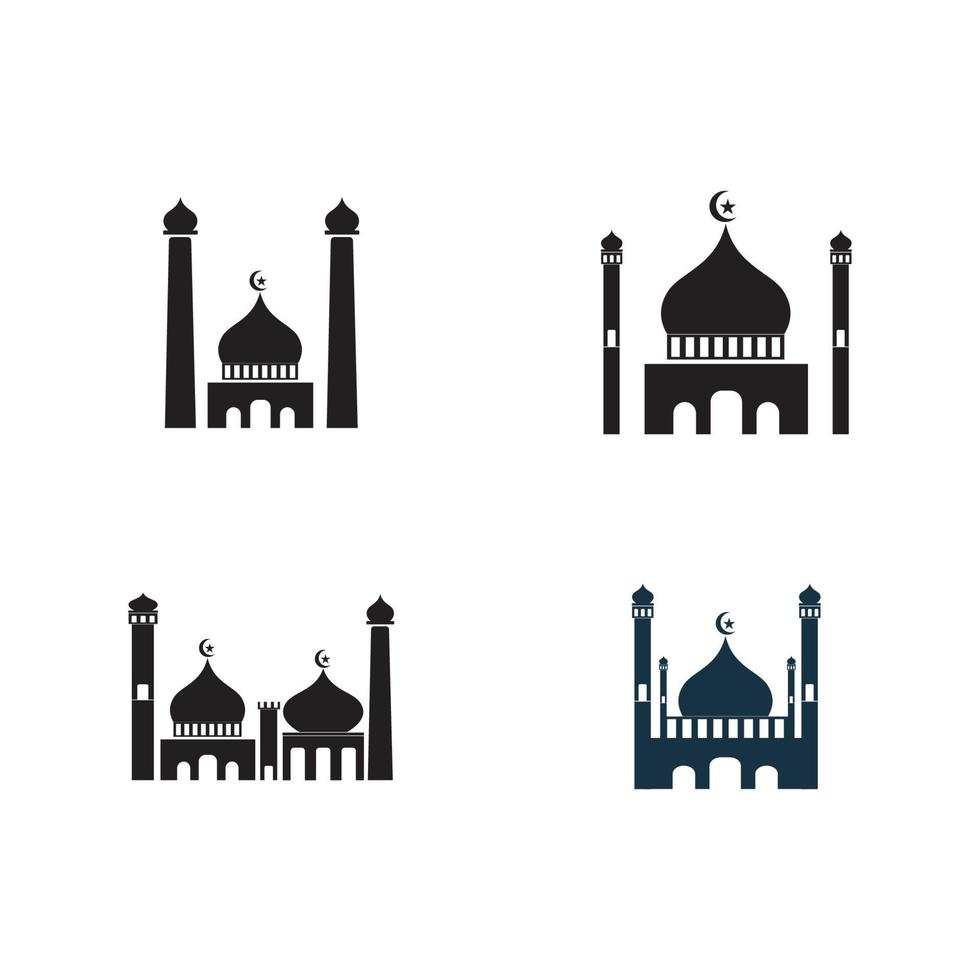 moské logotyp och symbol vektorbild vektor