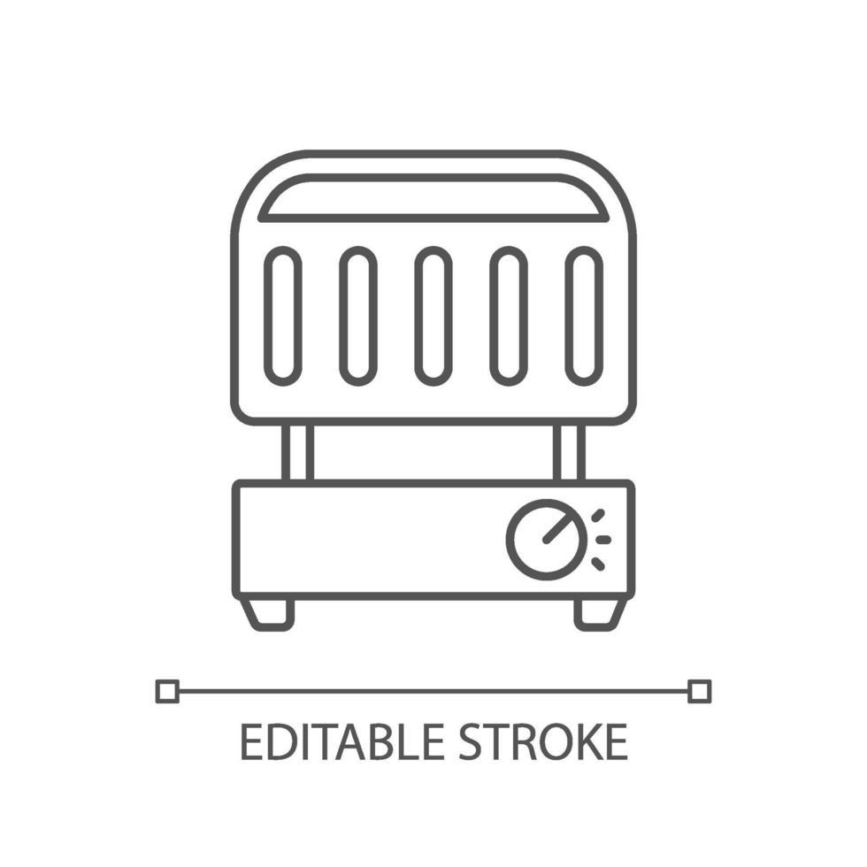 elektrisk grill linjär ikon vektor