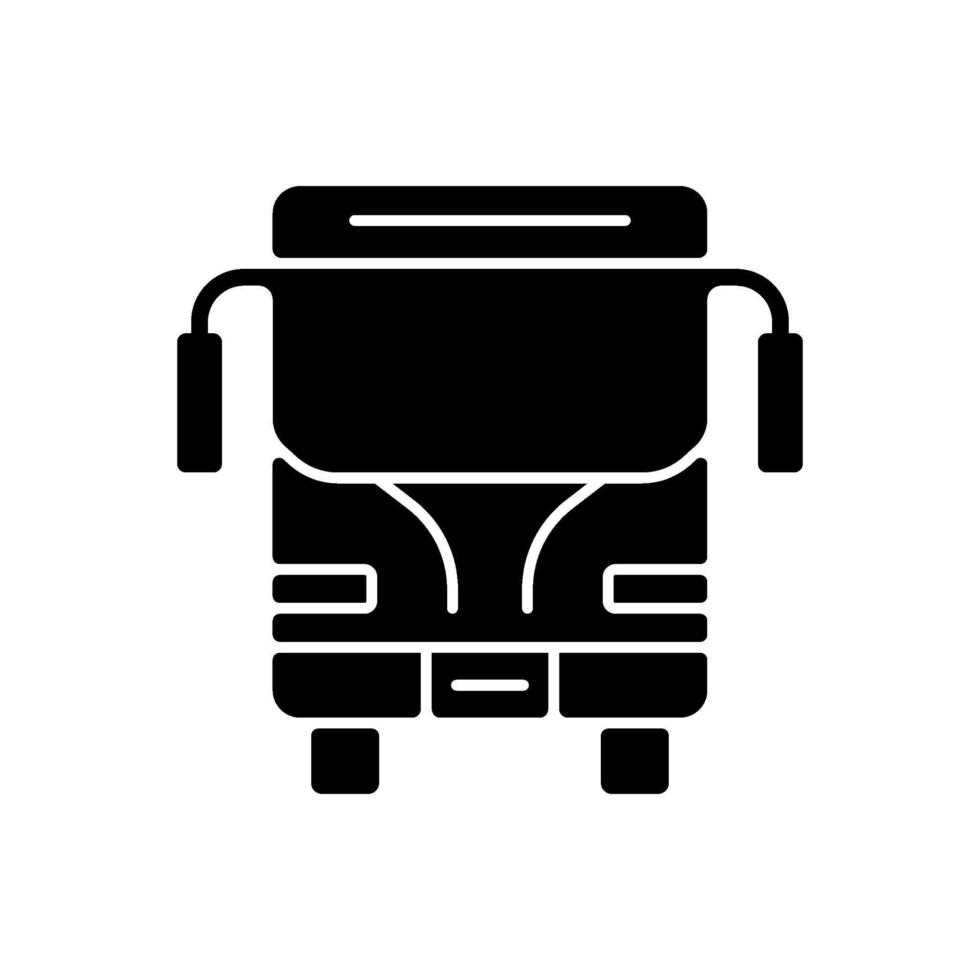 charter svart glyph ikon vektor