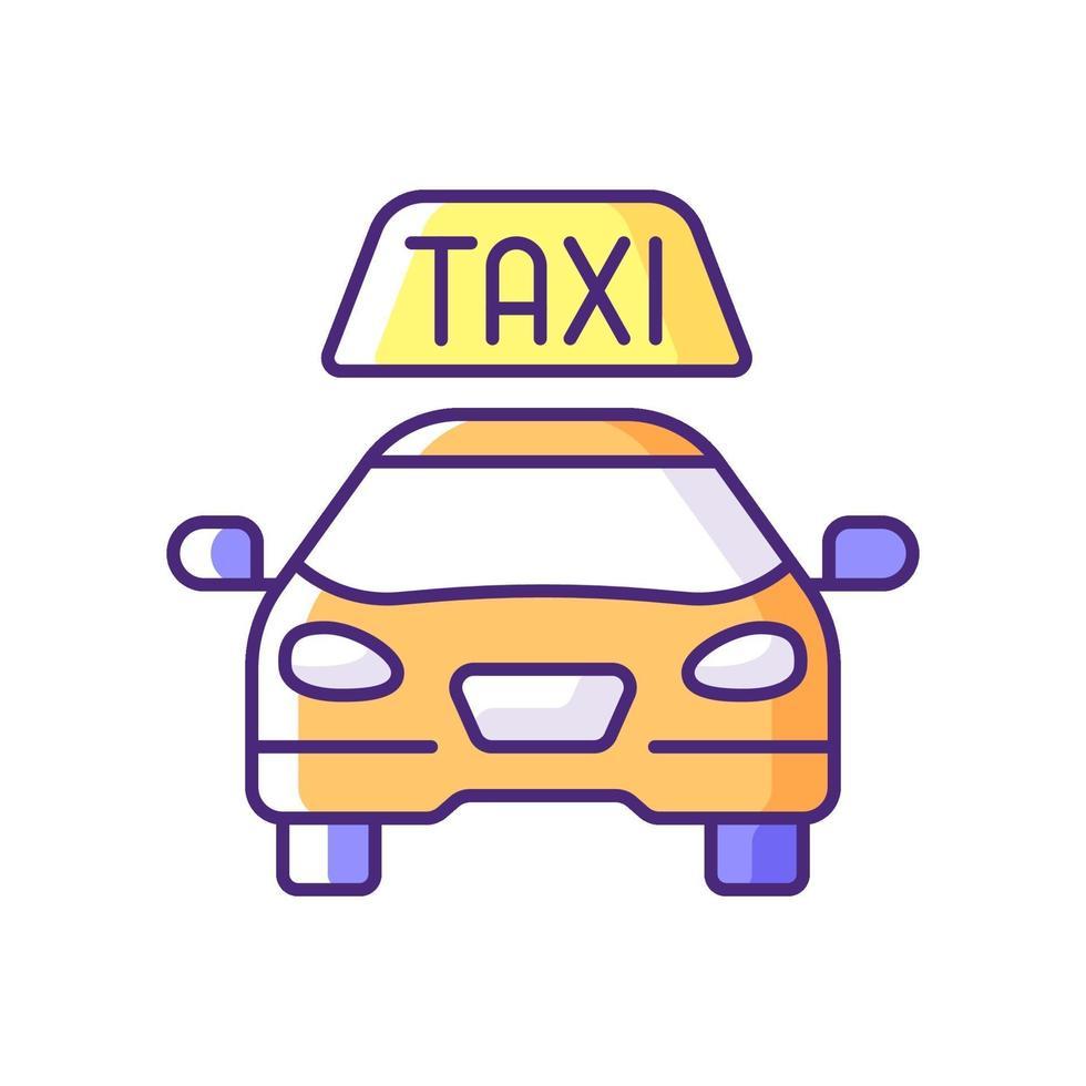 taxi rgb färgikon vektor