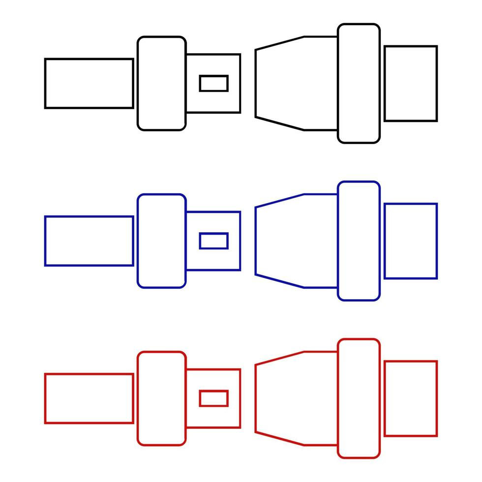bilbälte på vit bakgrund vektor