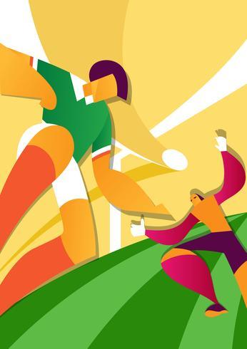 Mexiko-Weltmeisterschaft-Fußball-Spieler-Illustration vektor