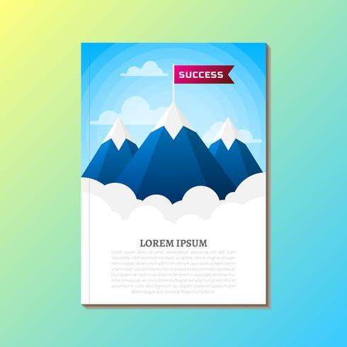Der Weg zum Erfolg Retro-Grafik-Design für das Buchcover vektor