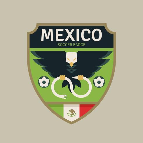 Mexiko WM Fußball-Abzeichen vektor