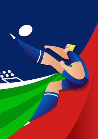 Island World Cup Fußballspieler-Vektor-Illustration vektor