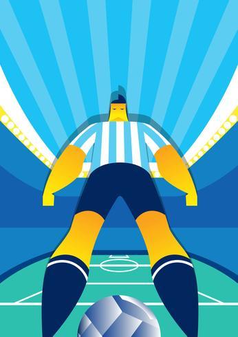 Argentinien-Weltmeisterschaft-Fußball-Spieler-Vektor-Illustration vektor