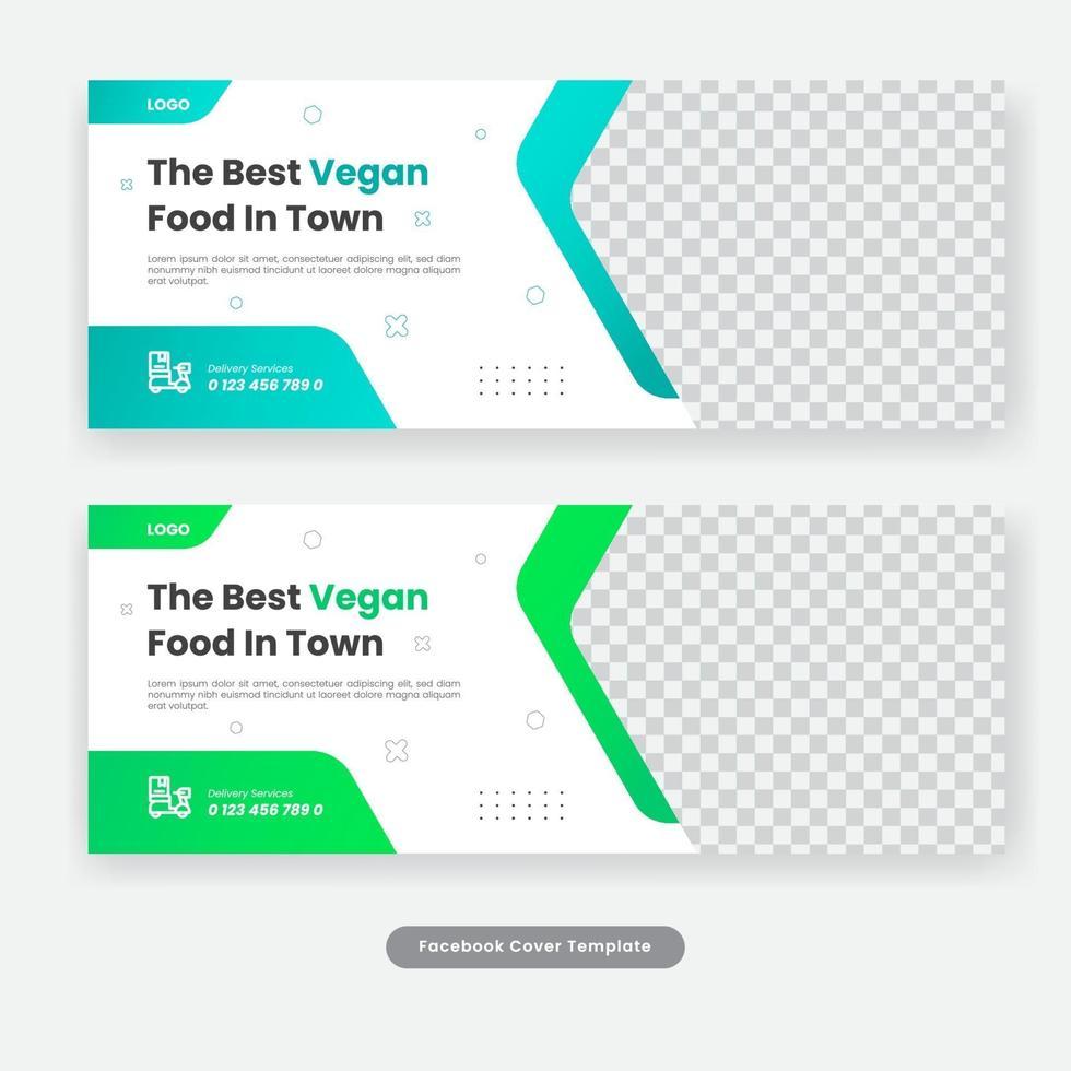 kulinarisk mat sociala medier täcker mall banner vektor