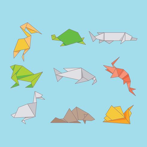 Origami Animals Süßwasser vektor