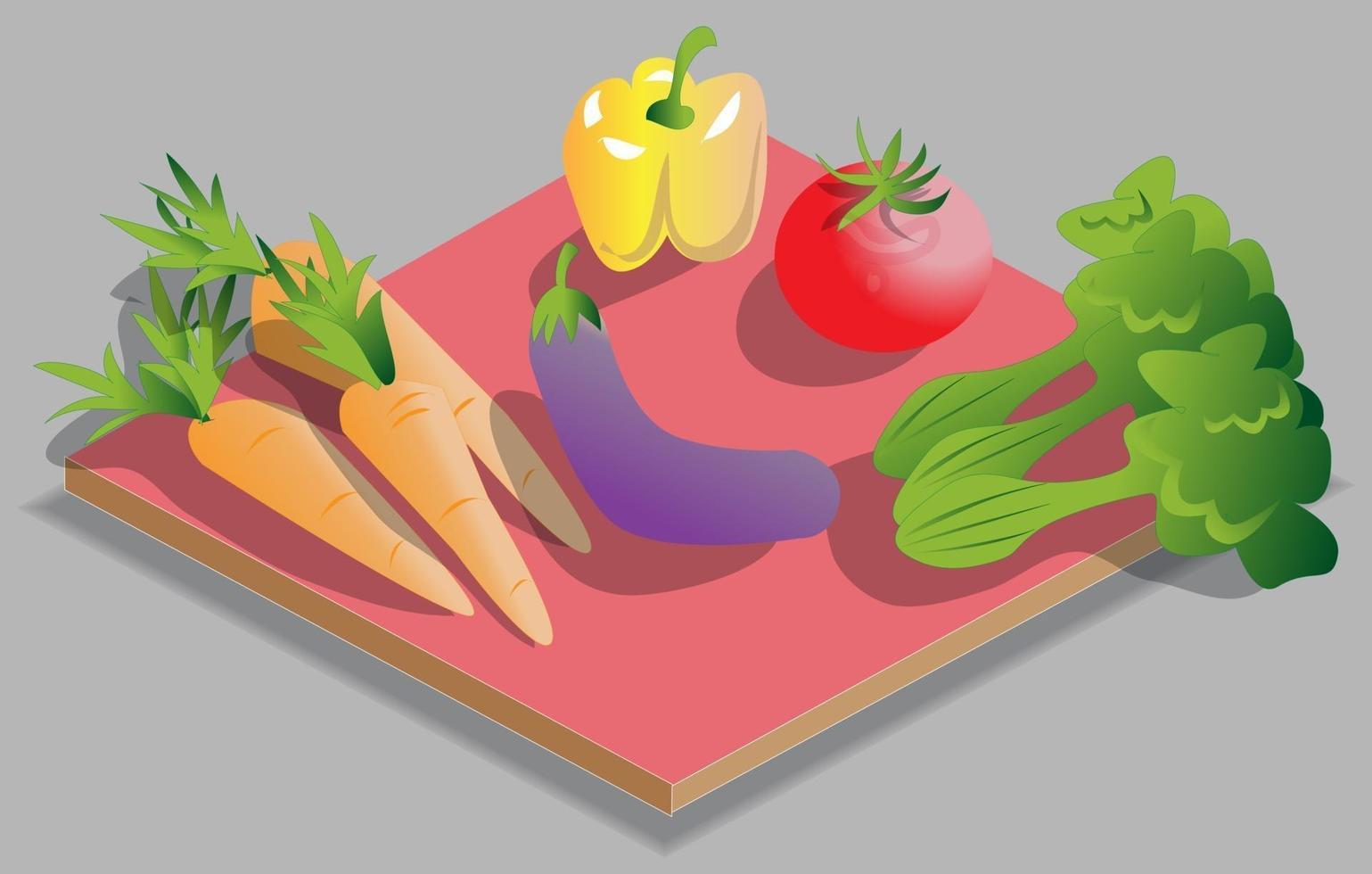 isometriska grönsaker illustration vektor
