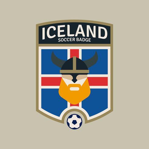Island World Cup Fußball-Abzeichen vektor