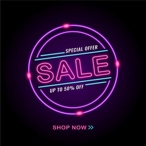 Glühender Neon-Verkauf vektor