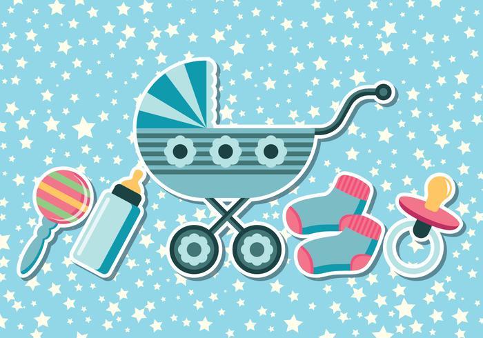 Baby-Dusche-Hintergründe vektor