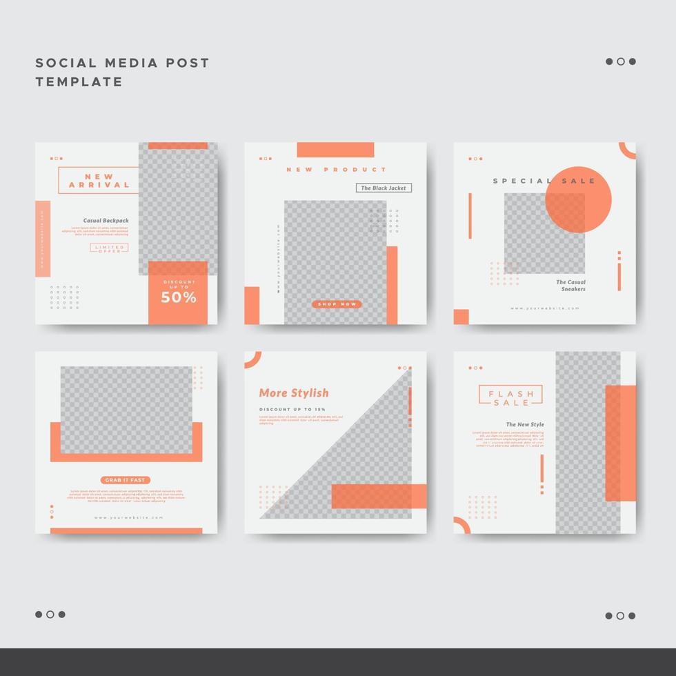 ren minimalistisk mode sociala medier post banner mall vektor