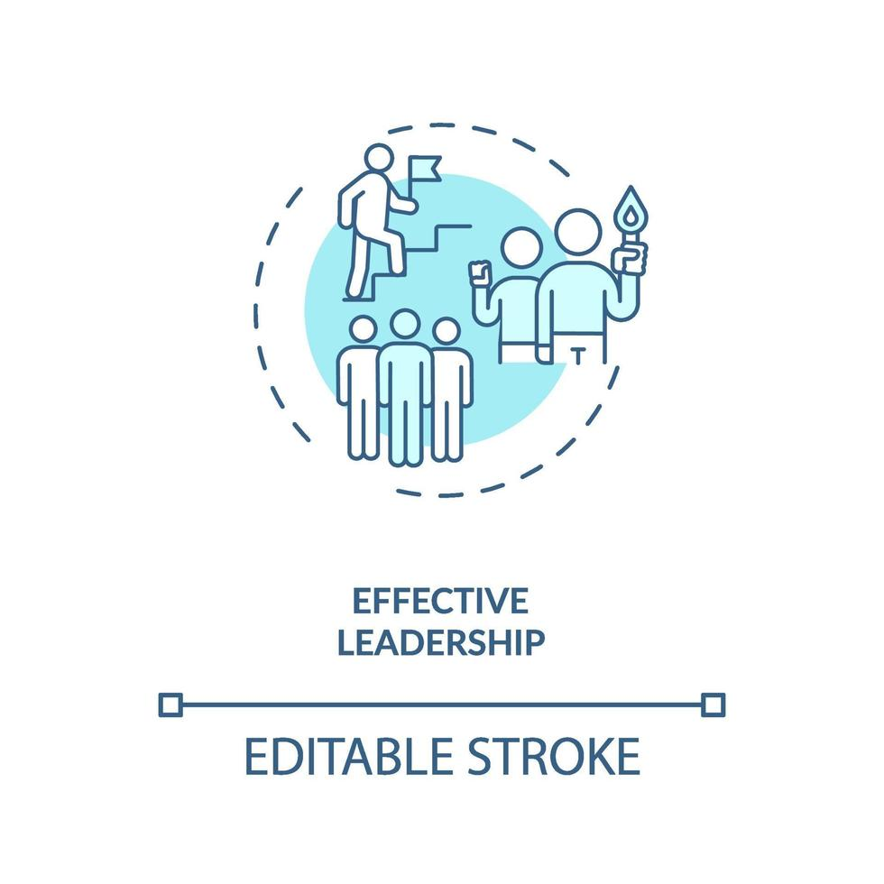 effektives Führungskonzept Symbol vektor