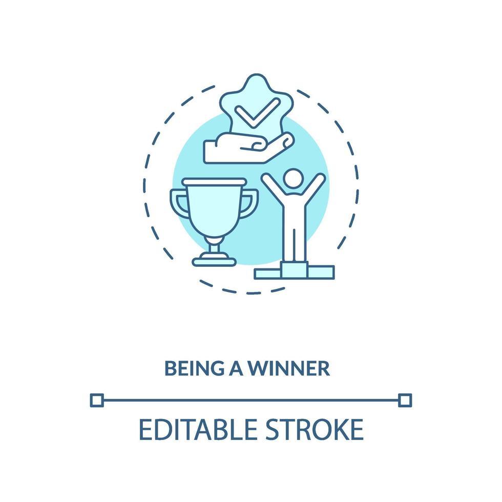 als Gewinner-Konzept-Symbol vektor
