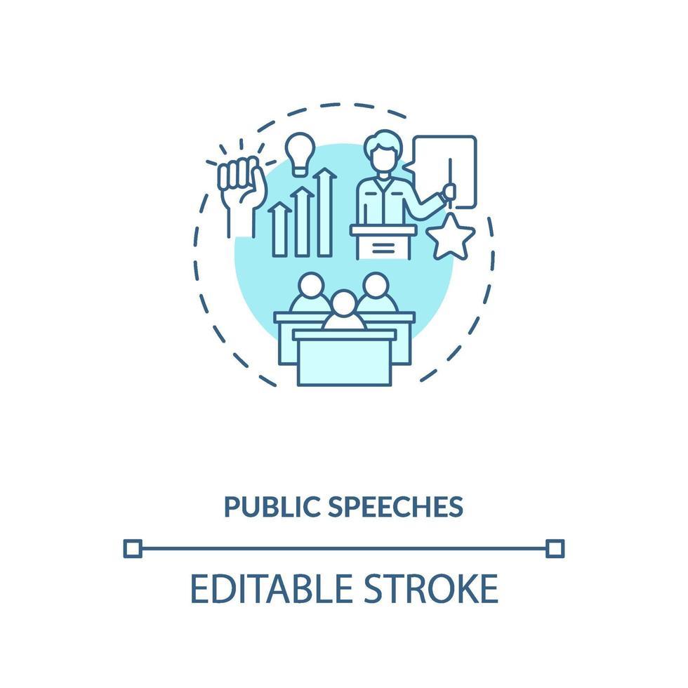 Konzeptikone für öffentliche Reden vektor