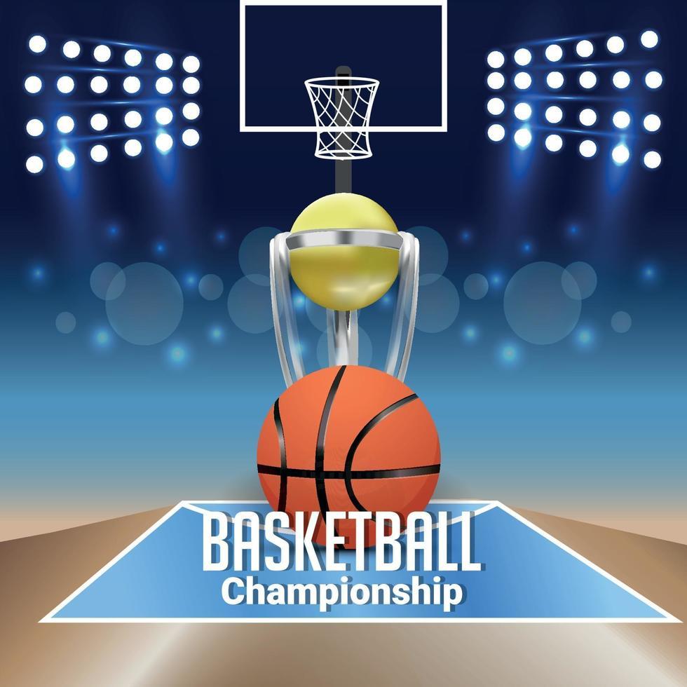 basket turnering match och bakgrund vektor