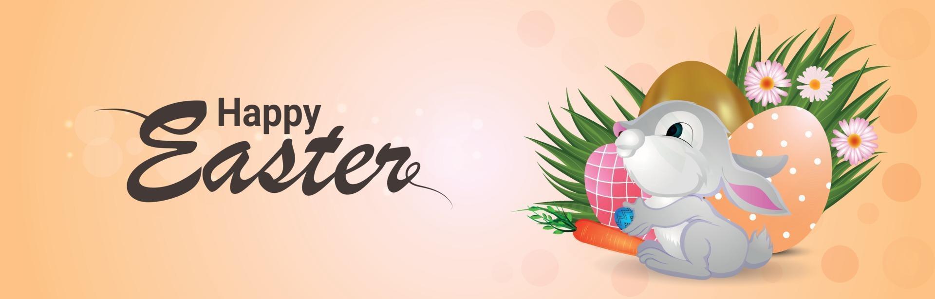 glad påsk banner eller rubrik vektor